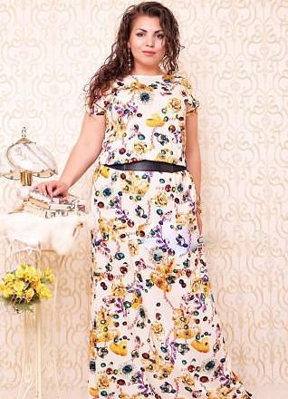 Модель платья для обладательниц пышных форм