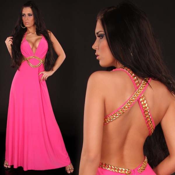 Платье цвета фукси