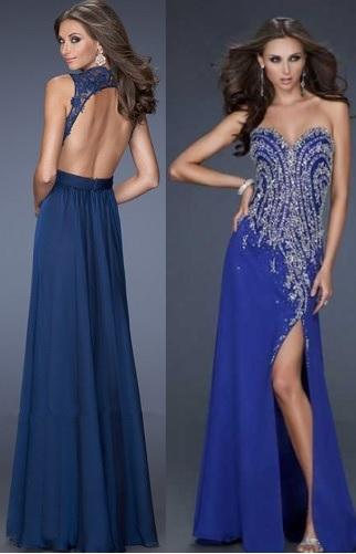 Модели с оттенками синего цвета