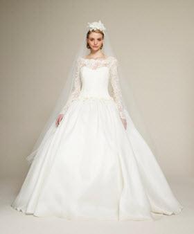 Пышный декорированный свадебный наряд