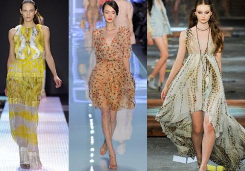 Актуальные модели шифоновых платьев 2015 года