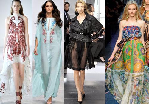 Дизайнерские наряды, в которых кожа и шелк сочетаются с шифоном