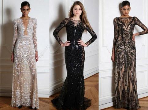 Модели вечерних платьев в классической цветовой гамме