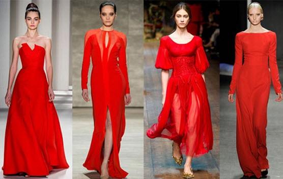 Красивые красные вечерние платья фото