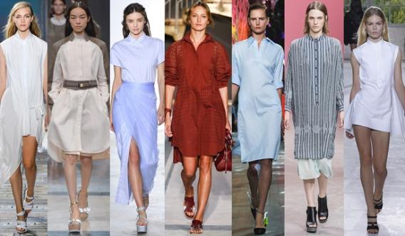 Разные модели платья-рубашки