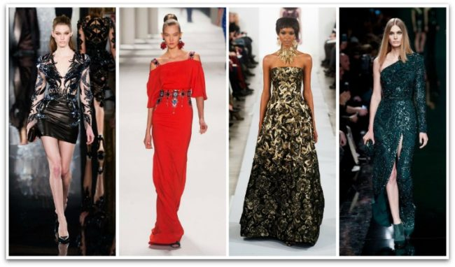 Праздничные фасоны платьев