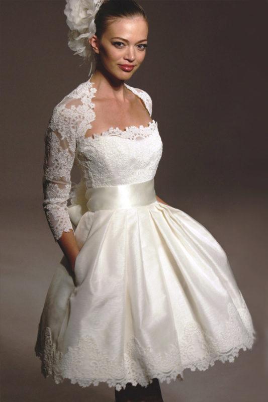 Миди свадебный наряд