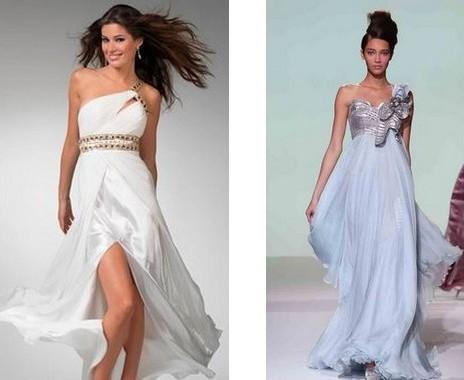 Модели платьев на одно плечо