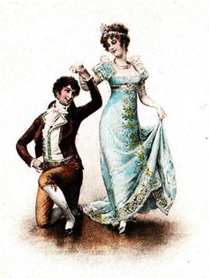 Платье в стиле ампир 19 век