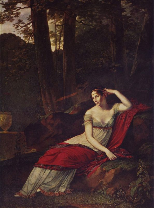 Модель платья, модного в период до 1815 года 19 век