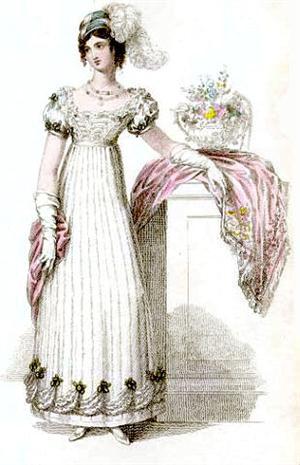 Наряд с юбкой в виде неширокого колокола 19 век