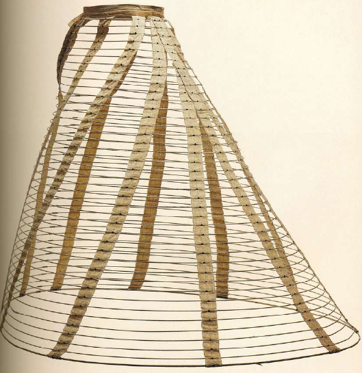 Нижняя юбка с обручами из стали