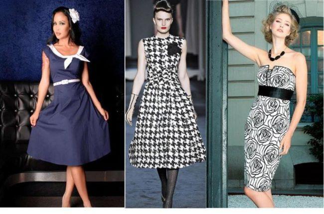 Элементы ретро в современных платьях