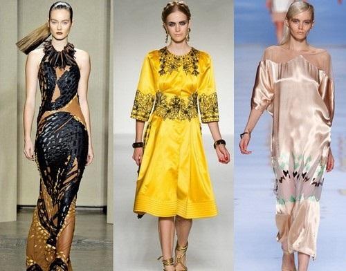 Платья с этническими и цветочными принтами