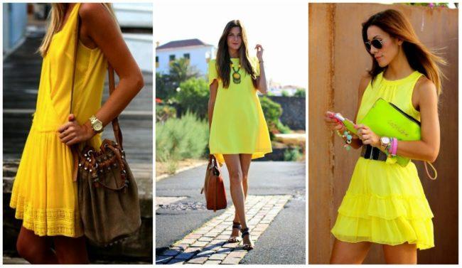 Повседневные желтые наряды