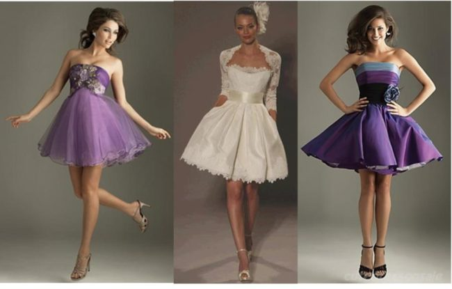 Короткие платья на корсете