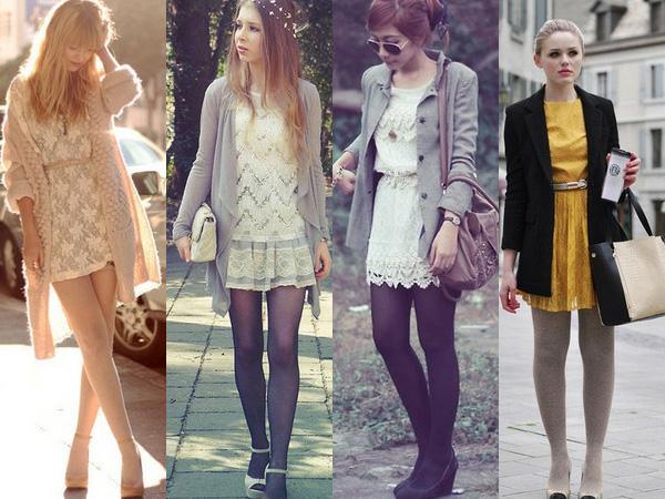 Платье сочетается с кардиганом и пальто