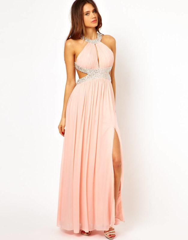 Греческое платье с разрезом