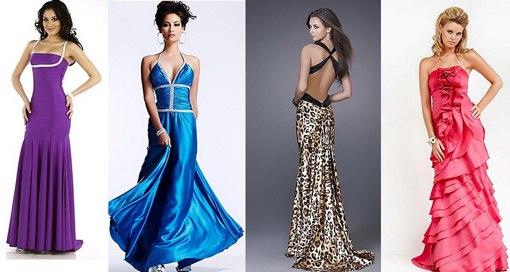Платья со шлейфом разных цветов