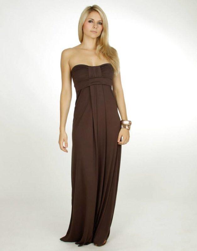 Коричневое платье с градиентом