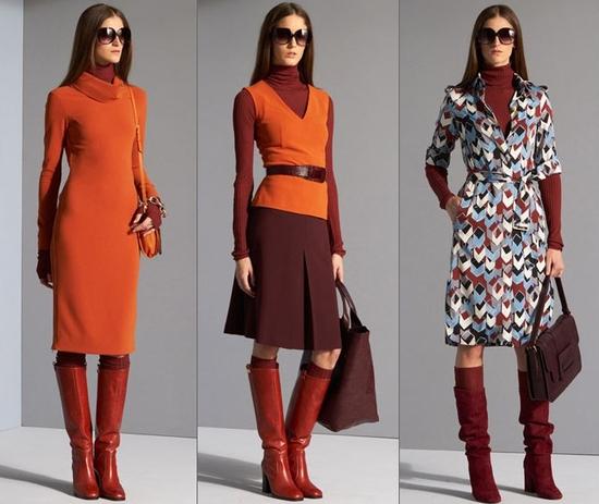 Различные сочетания сапог с платьями