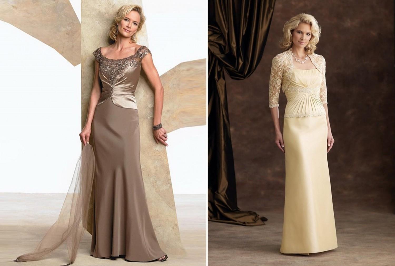 Модели фото платьев для мамы невесты
