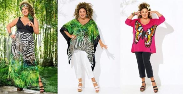 Летние платья-туники для полных