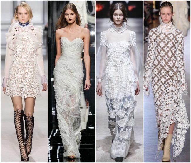 Модные кружевные платья