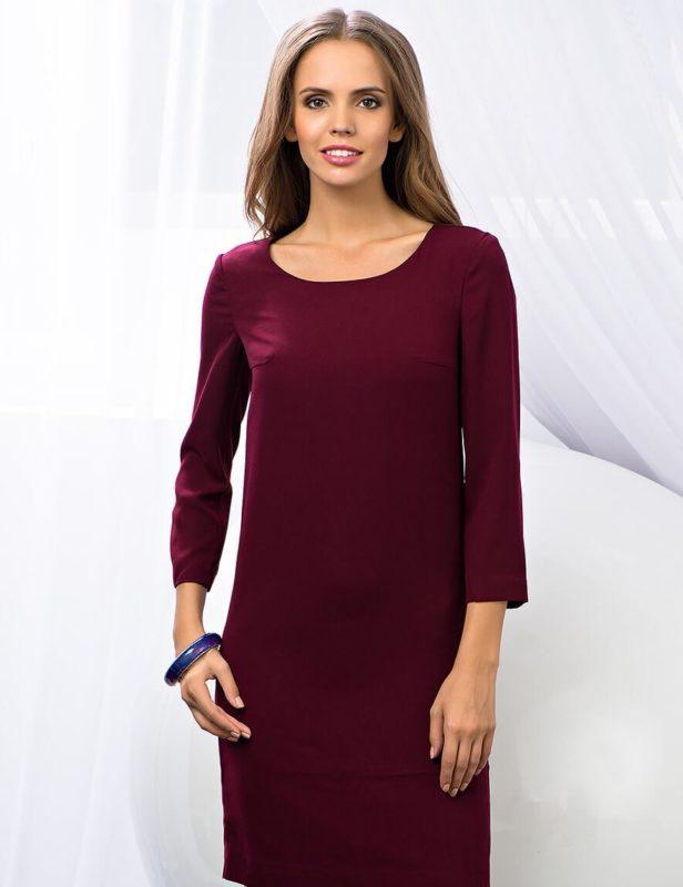Фиолетовое прямое платье