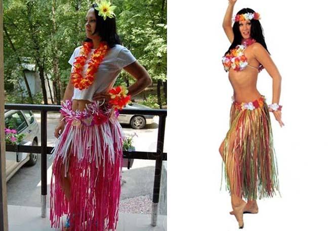 Гавайская юбка своими руками - как сделать? 53