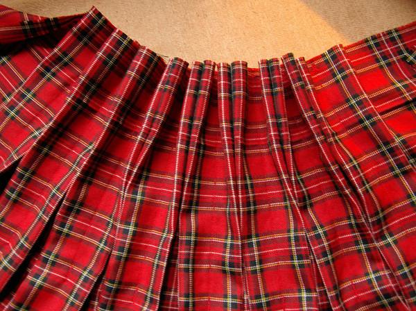 Юбка в складку из шотландки выкройка