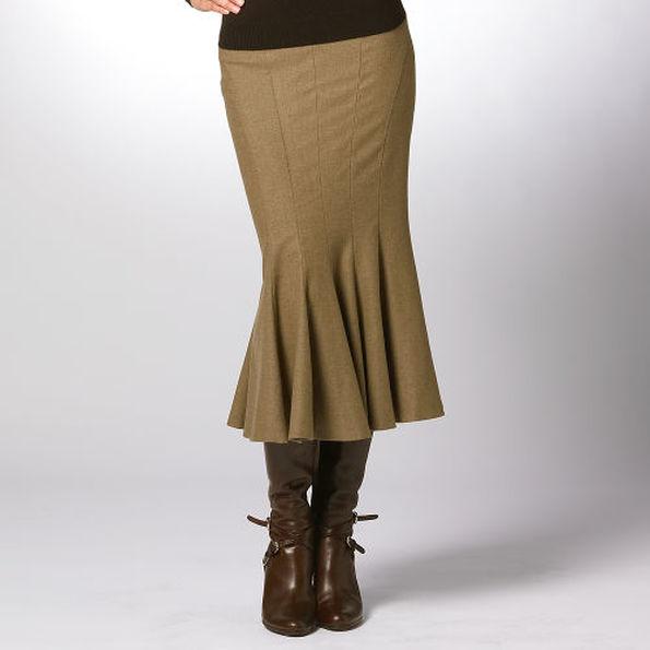 Вязаные юбки годе