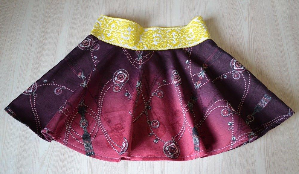 Как сшить юбку на широкой резинке пошагово
