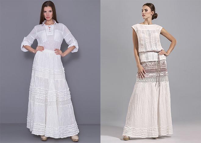 87647393db2a01e Льняные юбки для полных женщин: фото популярных фасонов
