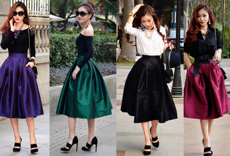 129ea5cba0c Черную юбку в складку можно одеть как на деловую встречу