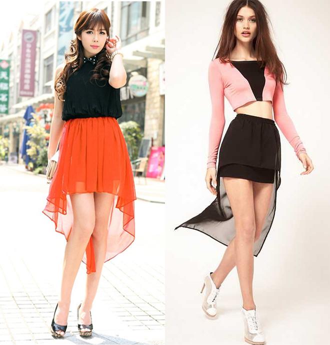 асимметричные короткие юбки